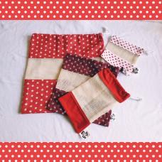 Eco bag set - Red
