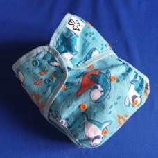 Diaper cover - Shark