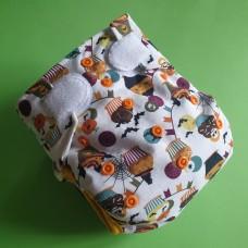 Diaper cover - Halloween muffin