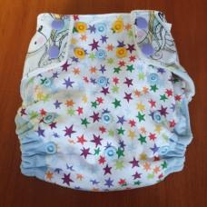 S Pocket diaper - Unicorn with blue