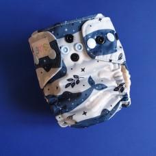 NB Pocket diaper - Whale